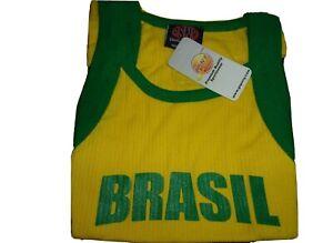 Brasil Ribbed Tank Top Brazil shirt All Sizes NWT Premium Quality