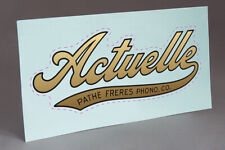 PRE CUT WATER SLIDE DECAL PATHE ACTUELLE FOR  PHONOGRAPH GRAMOPHON CABINETS