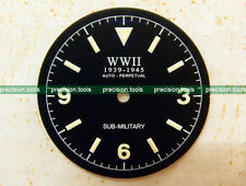 Matte Black Submariner Military Replacement Dial For DG2813 Automatic Movement