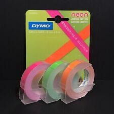 Dymo Labels Neon Label Maker Tape Hi Vis Sticker 9mm X 3m 38 X 98 Ft Lot X 3