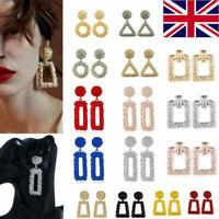 UK Fashion Women Earrings Square Dangle Ear Studs Geometry Drop Earring Jewelry