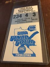 AUTHENTIC 1992 NCAA MENS FINAL FOUR TICKET STUB DUKE MICHIGAN INDIANA CINCINNATI