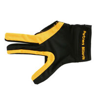 Billiard Glove For Men Women Billiards Pool Right Hand 3Fingers Yellow Black