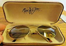 Maui Jim Makai Polarized Men's Sunglasses 150-16 Brown Lenses Gold & Tortoise