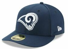 LA Rams Official New Era 59FIFTY Fitted Low Profile Cap Hat - Blue