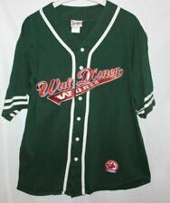 Mickey Mouse Walt Disney World Baseball Jersey size L Green since 1928