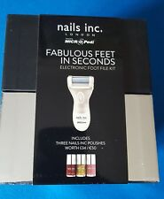 MICRO Pedi Electronic Foot File Kit and Nails Inc Fabulous Feet In Seconds