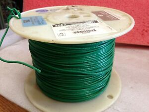 +/- 1,000 FT - ALPHA WIRE 3055 GREEN 18 AWG 16/30 300V   *ma5
