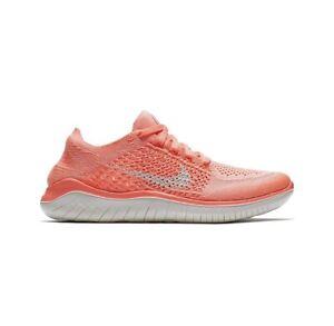 Nike Womens Free RN Flyknit 2018 Crimson Pulse Sail 942839-801 New Size 8 No Lid