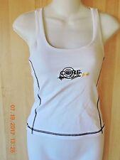 Core Rhythms women's 90% polyamide 12% elastane white sport bra tank top size M