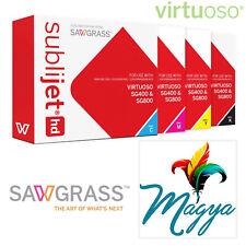 Sawgrass Virtuoso SublijetHD Sublimation Ink Cartridges SG400/SG800 (cmyk) Set …