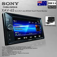 NEW SONY XAV-65 Double Din Monitor FREE Reverse Camera Car Audio Player
