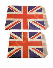 """UNION JACK PAPER SWEET COUNTER BAG 5x7"""" & 7x9"""" CANDY BUFFET STREET PARTY GIFT"""
