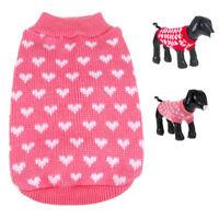 Pet Dog Warm Jumper Knit Sweater Clothes Puppy Cat Knitwear Coat Apparel Costume