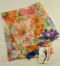 AVON  Diane Von Fustenberg - Spring Garden Chiffon Scarf   Multi-Floral  NEW