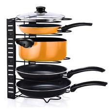 UK 5 Tier Cupboard Kitchen Cabinet Storage Organiser Rack Stand Pan Pot Holder