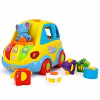 "Kids shape Sorter bump and Go"" Baby Bus Toy with music, lights and sounds"