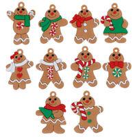 10 Stück Weihnachten Lebkuchenmann Weihnachtsschmuck Weihnachtsbaum Anhänger