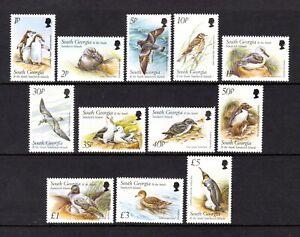 SOUTH GEORGIA 1999 BIRDS SUPERB MNH SET 1p TO £5 VALUE sg294-305