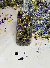 glitter mix acrylic gel nail art   ROCK ON