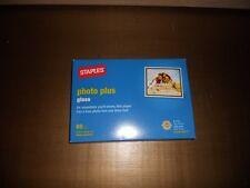 "STAPLES PHOTO PLUS GLOSS 4""x6"" PAPER w/60 SHEETS 64 lb"