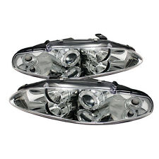 Mitsubishi Eclipse projector head light euro style front lamp Halo chrome 95 96