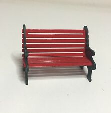 Dept 56 New England Village Accessorie red wrought iron bench.