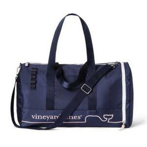 VINEYARD VINES Target Whale Line Duffel Bag Navy Pink Exclusive Weekender Bag