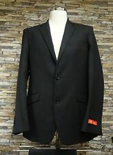 Ben Green Mens Black 100% Wool Suit Button Two Side Vents Size 40R
