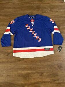 NHL Mens New York Rangers Mats Zuccarello #36 Fanatics Premier Blue Jersey 3XL
