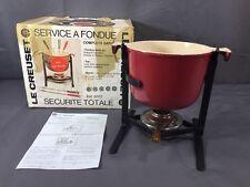Vintage Le Creuset Enameled Cast Iron Enzo Mari La Mama Red Fondue Pot