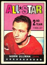 1967 68 TOPPS HOCKEY #132 NORM ULLMAN VG-EX ALL STAR DETROIT RED WINGS CARD