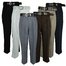 Boys Pleated Dress Pant Slacks With Belt Many Colors New Sizes 4 to 20