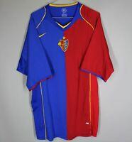 FC BASEL 1893 SWITZERLAND 2004 2005 HOME FOOTBALL SHIRT JERSEY NIKE SIZE XXL