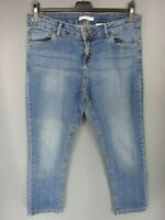 Pantalon cour Pantacourt femme en jean Stretch Camaieu Taille W32 L24 FR42