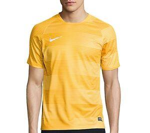 NWT Nike Flash Graphic Soccer Printed Top SizeXL Dri-Fit Mesh Yellow Striped