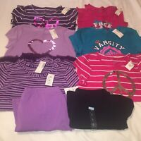 Lot of 8 Girls T-Shirts Tops Size L 10-12 Children's Place 6 Shirts 2 Skirts