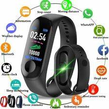 Fitness Tracker Heart Rate Blood Pressure Sports Bracelet Smart Watch