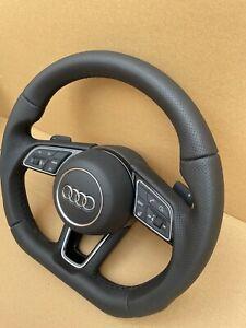 Audi A4 A5 B9 S4 S5 RS4 S-Line HEIZUNG Lenkrad Leder abgeflacht SELTEN NEU !