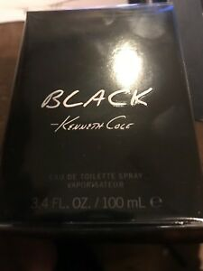 Black Kenneth Cole Cologne for Men 3.3 / 3.4 oz Brand New In Box