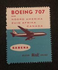 cinderella Belgie Belgium Belgique Airplane Boeing 707 America Sabena Canada