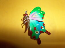 LARGE VINTAGE BUTTERFLY PIN~BROOCH~ VERY COLORFUL