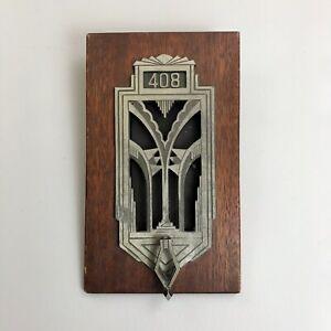 ANTIQUE Art Deco Speakeasy Door Knocker Peephole The Griswold Co. Pat 1799164