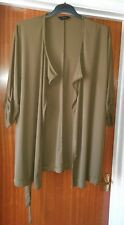 Womens size 18 Yours - blouse top cardigan - khaki