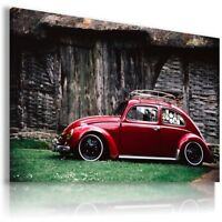 VOLKSWAGEN BEETLE RED Sports Cars Wall Art Canvas Picture AU875 MATAGA .