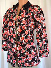 MARNI FLORAL 3/4 SLEEVES COLLAR NECK FRONT ZIPPER JACKET/TOP SIZE 44