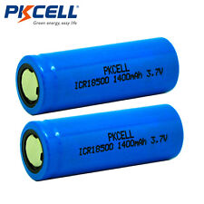 2 x ICR 18500 Li-ion Battery Rechargeable Batteries 3.7V 1400mAh Cell PKCELL