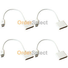 4 NEW Charger Adapter for Apple iPhone 3 3G 4 4S to Micro USB Android Cell Phone