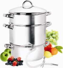 Cook N Home 11-Quart Stove Top Stainless-Steel Kitchen Steam Juicer w/ Recipes