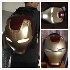 NEW Schoolbag Travel Bag Gifts SO COOL Iron Man Helmet 3D Lightning Eye Backpack